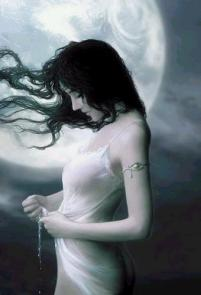Girl Under Moon