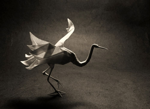 Designed by Roman Diaz and Daniel Naranjo. Folded from 37*37cm MC treated tissue. Finished with MC.