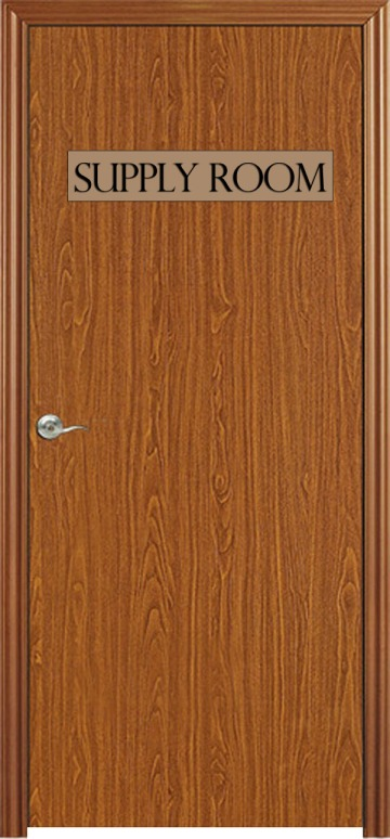 Supply Room - Closet - Door - Wooden
